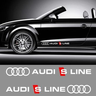AUDI S LINE MOTOR SPORTS DECAL STICKER