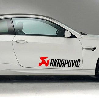 RACING SPONSORS DECAL STICKER. AKRAPOVIC
