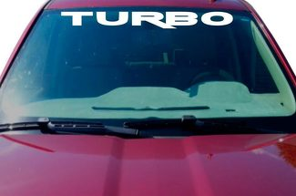 TURBO Windshield Sticker Decal Graphic lettering cut car truck charged charger