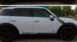 Mini Cooper Rally Turbo 2000-2015 Panel Decals Side Checkered Rocker Stripes
