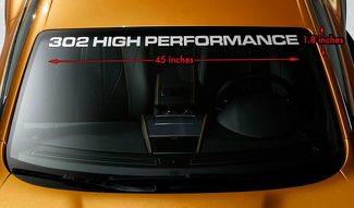 302 HIGH PERFORMANCE FORD Premium Windshield Banner Vinyl Decal Sticker
