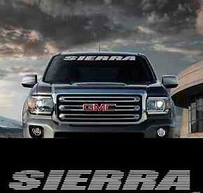 SIERRA GMC WINDSHIELD BANNER 36