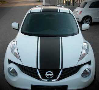 Stripe Kit Sticker Vinyl Decal for Nissan Juke RS 2009 2011 2013 2015 Trunk Roof