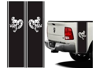 Truck Bed or Car Stripe for Dodge Hemi turbo Ram sticker decal skull decal wrap