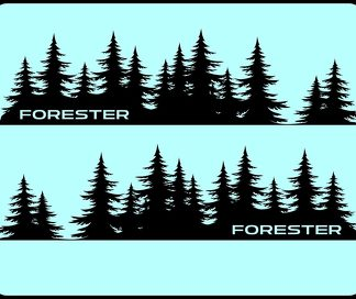 FORESTER Tree Decal Subaru sticker vinyl door Graphic Mountains Northwest PNW