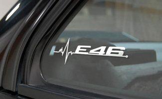 BMW E46 zit in My Blood Window Sticker Decals Grafisch