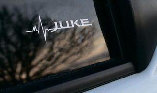 Nissan Juke ist in meiner Blutfenster-Aufkleber-Abziehbildgrafik