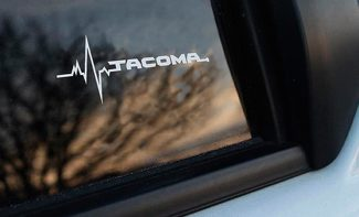 Toyota Tacoma is in my Blood window sticker decals graphic