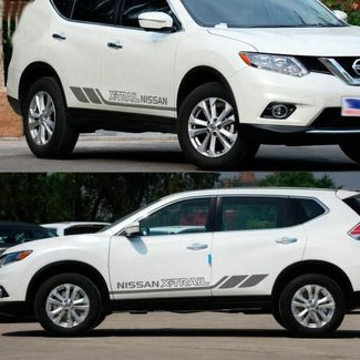 A Pair Auto Side Skirt Car Sticker Vinyl Motor Decal Nissan MURANO X-TRAIL TIIDA