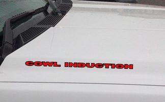 COWL INDUCTION Hood Vinyl Aufkleber Aufkleber: Chevrolet Ford GMC Jeep (umrissen)