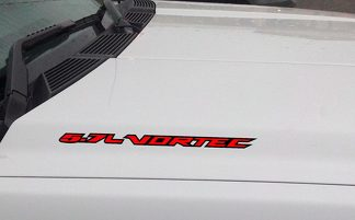 5.7L VORTEC Hood Vinyl Decal Sticker: Chevrolet Silverado GMC Sierra (Outlined)