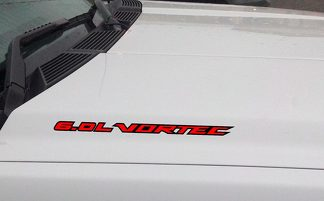 6.0L VORTEC Hood Vinyl Decal Sticker: Chevrolet Silverado GMC Sierra (Outlined)