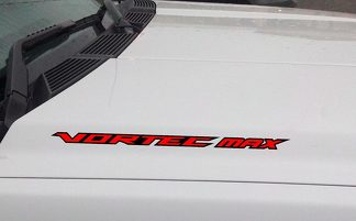 VORTEC MAX Hood Vinyl Decal Sticker Fits: Chevrolet Silverado GMC (Outlined)