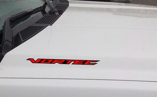 VORTEC Hood Vinyl Decal Sticker: Chevrolet Silverado GMC Sierra Truck (Outlined)