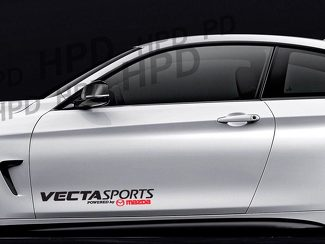 Vecta Sports Powered by Mazda Car Decal Vinyl Sticker RX7 RX8 6 3 Rotary Turbo A