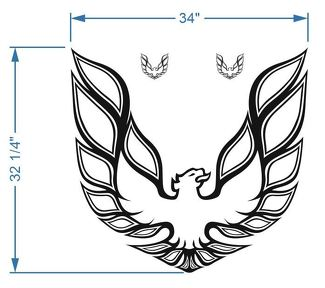 Kit Firebird Trans Am Hood Bird Decal Graphic Pontiac 3 decals