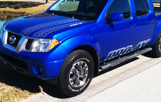 Kit for NISSAN Frontier 2016 PRO 4X Include Hood and Sides Decals