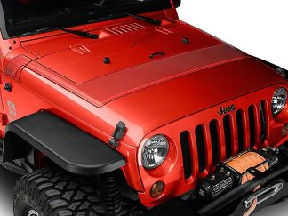 Retro Style Pinstriped Hood Stripes - Red Fits 2007-2018 Jeep Wrangler JK Models