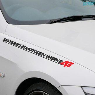 Lettering Decal Sticker Embleem Logo Vinyl B Type voor BMW