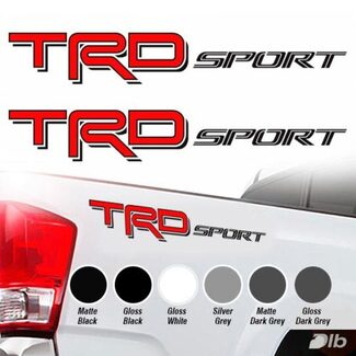Toyota TRD Sport 2016 2017 Tacoma Tundra Truck Decal Vinyl 2 Decals Sticker Red