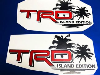 Toyota TRD Island Edition Off Road Tacoma Tundra Decals Vinyl Sticker Decal Palm