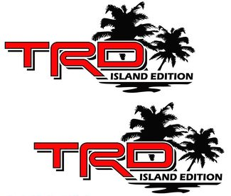 Toyota TRD Island Edition OffRoad Tacoma Tundra Decals Vinyl Sticker Decal Palm