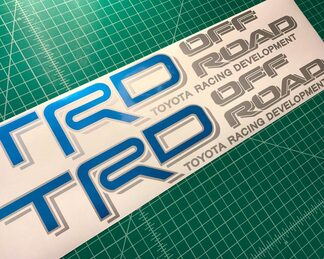 Toyota TRD 4X4 Off Road Tacoma Tundra Truck Decals Stickers Bright Blue Metallic