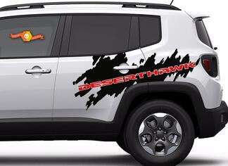 2 Color Jeep Renegade DesertHawk Side Splash Graphic Vinyl Decal Sticker Desert Hawk SUV