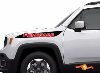 2 Color Jeep Renegade Hood Stripe Graphic Vinyl Decal Sticker Side