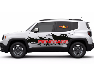 2 Color Jeep Renegade Side Splash Logo Graphic Vinyl Decal & Windshield Graphic