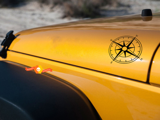 Small Compass Decal Set for Jeep Wrangler
