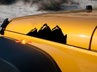 Medium Mountain Graphic Decals Stickers