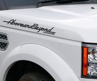 LETTERING DECAL STICKER EMBLEM LOGO VINYL ABOVE AND BEYOND FOR LAND ROVER