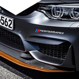 Een Paar Front Bumper Sticker Decals M Performance Sport Graphics Sticker voor BMW