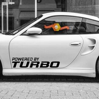 Powered By TURBO Decal Sticker Vinyl Racing Car emblem Fit Porsche 911 996 PT16