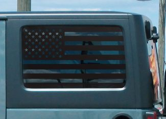Jeep Hardtop Flag Decal Regular USA American Wrangler JKU Vinyl Standard