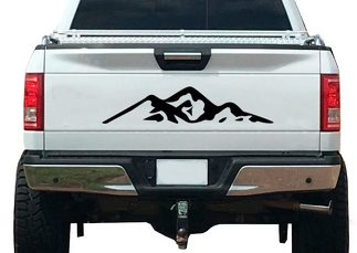 Mountain Nature Forest Graphic Decal Vinyl Fits Tailgate Trailer RV Camper