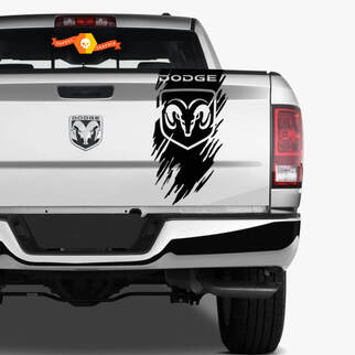 Scratch Dodge Tailgate 4X4 Ram 1500 2500 3500 Hemi Decal Truck Vinyl Sticker