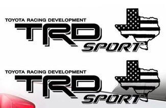 Toyota TRD Sport Texas Flag Tacoma Tundra Truck Pair Decals Vinyl Decal 2