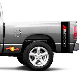 Dodge Hash Ram 1500 2500 3500 TRUCK bed box stripe decal vinyl Sticker Graphic