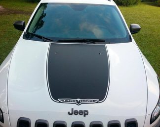 2014-2017 Jeep Cherokee Vinyl Hood Decal Sticker Graphic