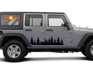 Forest Tree Side Decal Grafiken - Türaufkleber im Freien Jeep Wrangler 4x4 USA