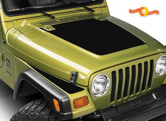 1997-06 JEEP WRANGLER HOOD & FENDER MATTE BLACK BLACKOUT DECAL KIT