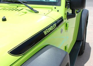 NEW Wrangler Gloss Black Hood Vinyl Decal Graphics