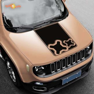 Jeep Renegade Hood Logo Graphic Vinyl Decal Sticker Side Camo