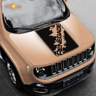 Hood Jeep Renegade Splash Splatter Logo Graphic Vinyl Decal Sticker