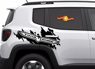 Jeep Renegade Cherokee Trail Hawk TrailHawk Side Splash Logo Graphic Vinyl Decal