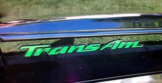 Door emblem lettering overlay decals made to fit 93-02 Trans Am