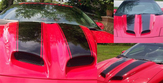 Hood stripes with pin stripe for 98-03 Firebird Ram