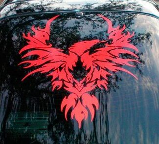 Tribal bird vinyl decal graphic fits Pontiac Firebird Trans Am